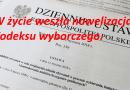 Nowelizacja Kodeksu wyborczego.