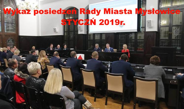 Wykaz posiedzeń Rady Miasta wraz z z tematyką -STYCZEŃ 2019r.