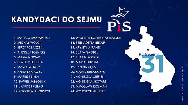 Prawo i Sprawiedliwość ogłosiło pełna listę kandydatów do Sejmu.