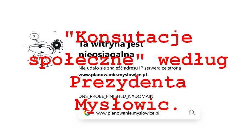 Szykują się duże zmiany w Mysłowicach – w tle jak zwykle skandal i ignorowanie mieszkańców.