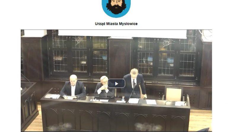 Transmisje video sesji Rady Miasta Mysłowice.