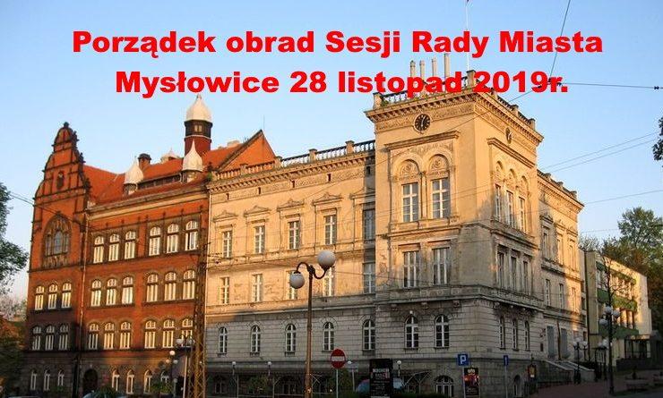 Sesja Rady Miasta Mysłowice listopad 2019r.