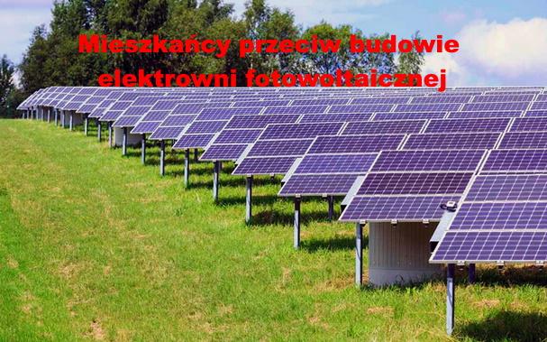 Stanowczy sprzeciw mieszkańców na budowę elektrowni fotowoltaicznej